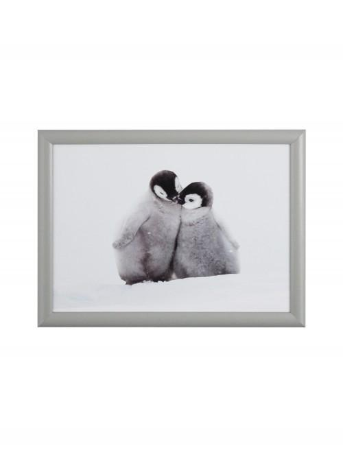 Photographic Penguin Lap Tray Grey