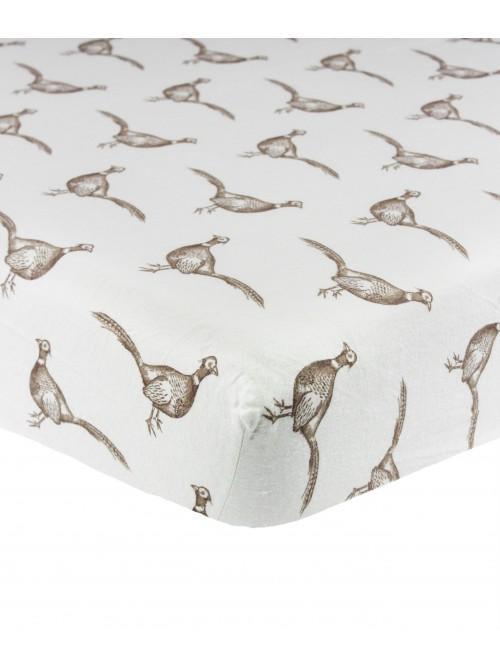 Pheasant Flannelette Bed Linen Natural