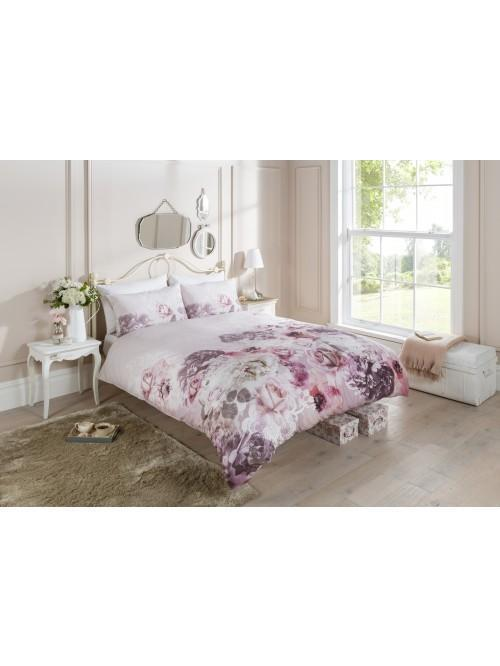 Digital Print Lace Rose Duvet Set Pink