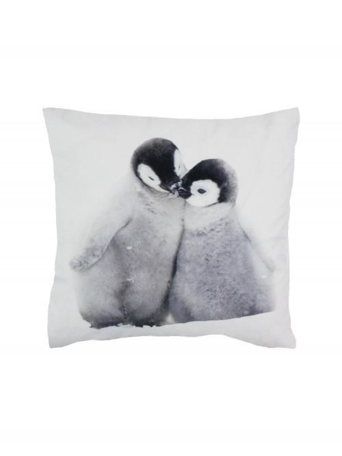 Photographic Penguin Cushion Grey