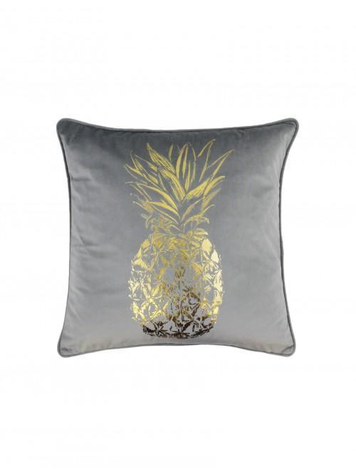 Foil Printed Large Pineapple Grey