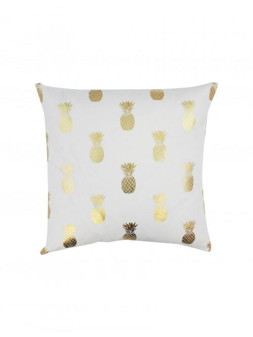 Foil Printed Pineapples Cushion Gold