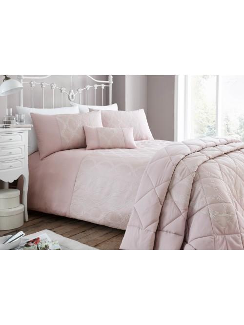 Pink Dot Jacquard Bedding Collection Pink