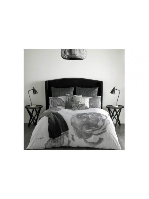 Karl Lagerfeld Pixel Rose Bedding Collection Grey