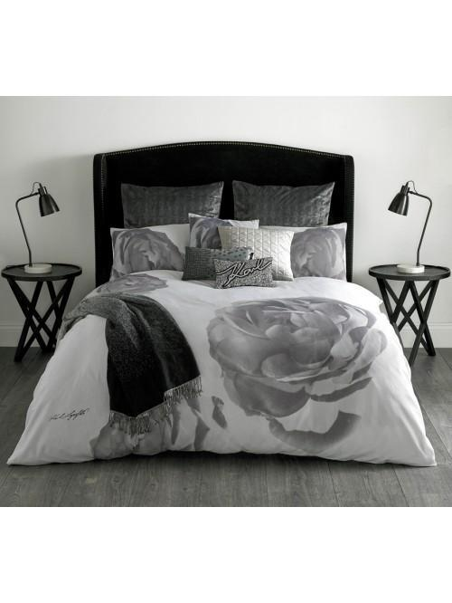 Karl Lagerfeld Pixel Rose Bedding Collection Grey