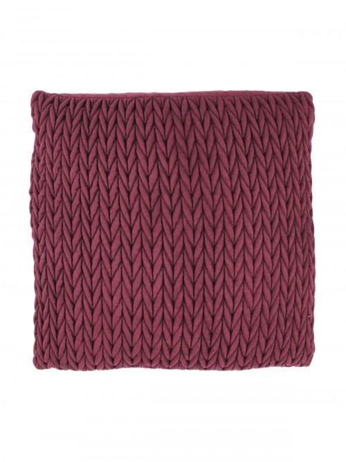 Pleated Cushion Plum