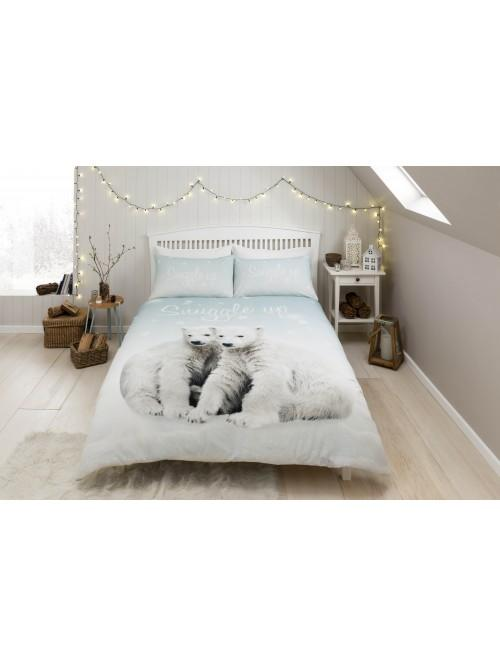 Polar Bear Pups Duvet Set White