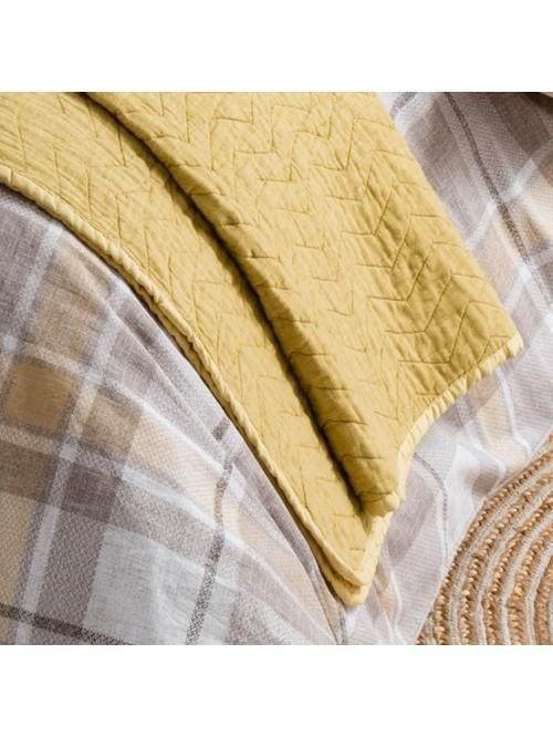 Ochre Cotton Bedspread Ochre
