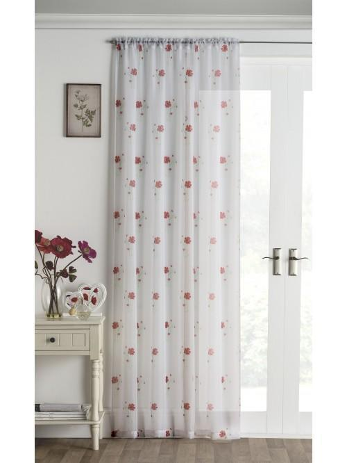 Poppy Voile Panel Red