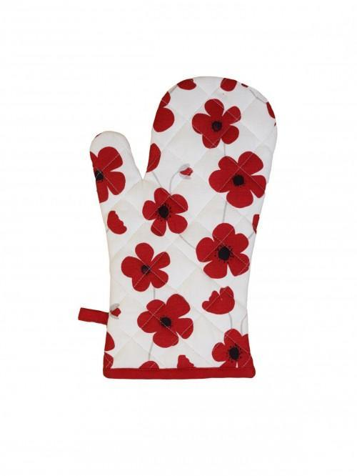 Ponden Home Printed Bright Poppy Single Oven Glove