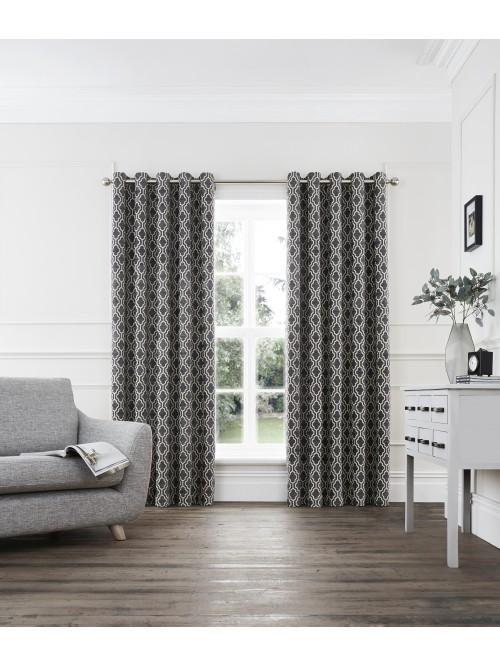 Portofino Eyelet Curtains Slate