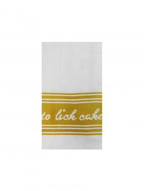 Brights Slogan Tea Towel Yellow