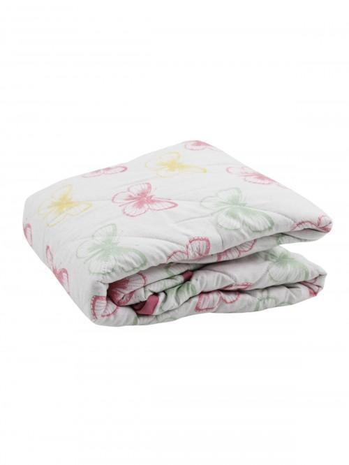 Quilted Butterfly Throw Pink