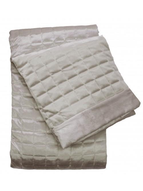 Holly Willoughby Quilted Squares Throw Mocha
