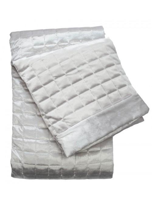 Holly Willoughby Quilted Squares Throw Silver