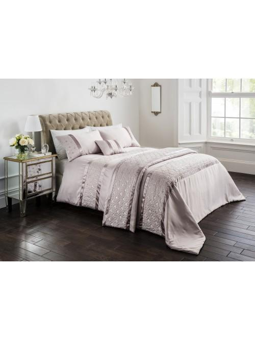 Quilted Sequin Bedding Collection Champagne