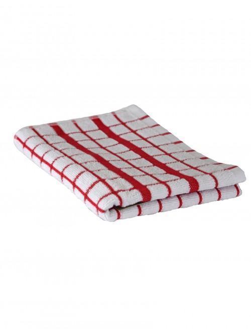 Ponden Home Single Woven Tea Towel Red