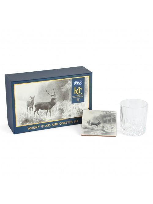 'RSPCA' Heritage Collection Whiskey Glass & Coaster Set