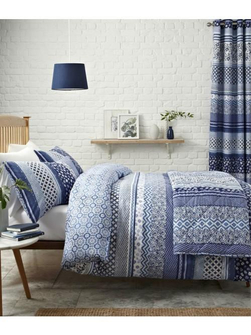 Catherine Lansfield Santorini Bedding Collection Blue