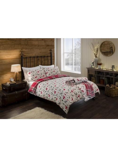 Scandi Stag Bedding Collection Red