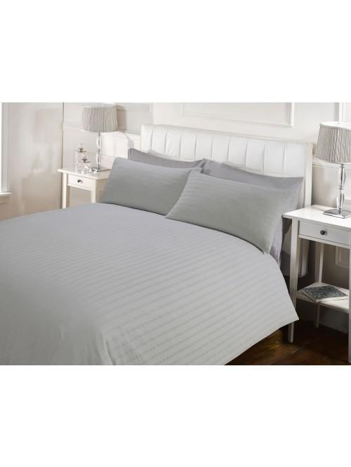 Hotel Seersucker Duvet Set Grey