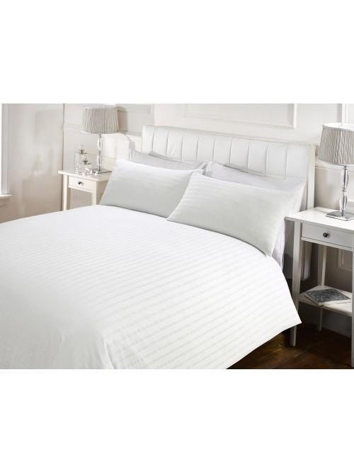 Hotel Seersucker Duvet Set White