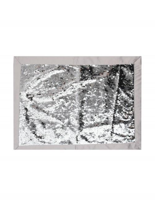 Hotel Sequin Changer Placemat Silver