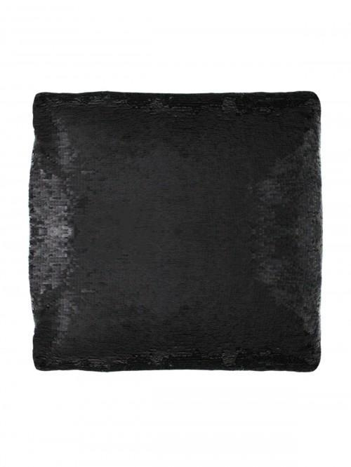 Two Tone Sequin Changer Cushion Black