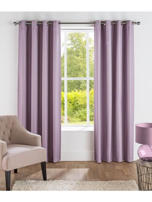 Serene Thermal Blackout Eyelet Curtains Heather