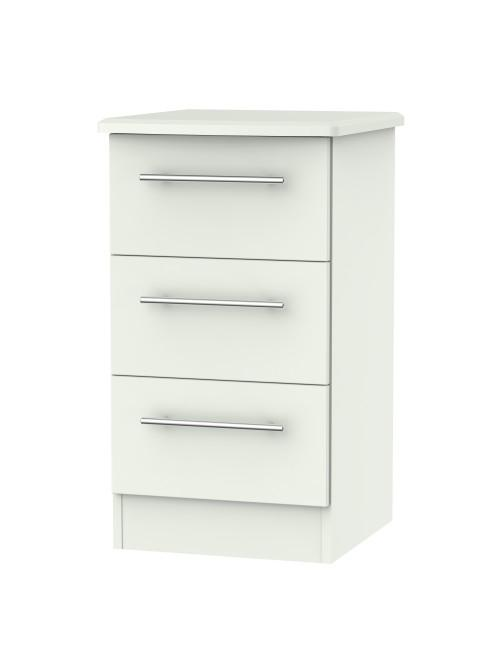 Madison 3 Drawer Bedside Cabinet Matt Porcelain