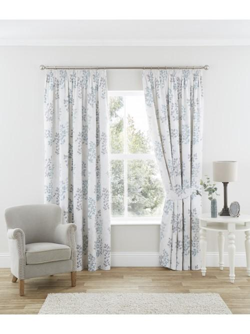 Sienna Pencil Pleat Curtains Duck Egg