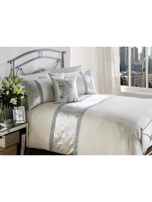 Silver Burst Metallic Finish Bedding Collection Silver