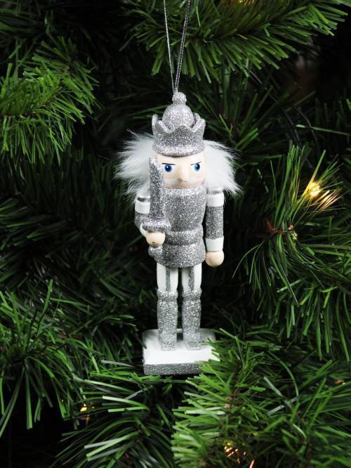 Silver Nutcracker Hanging Decoration