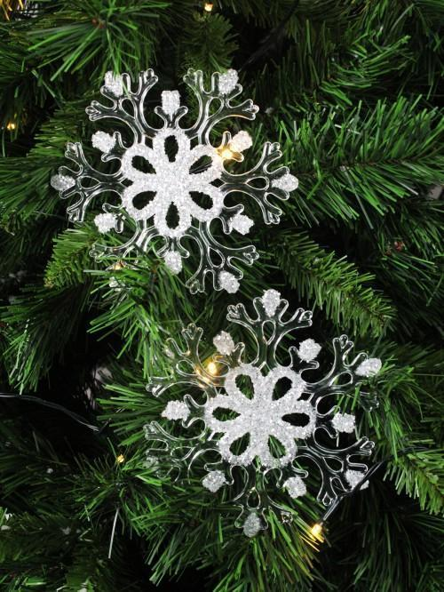 Snowflakes Tree Hanging Decoration 2 Pack
