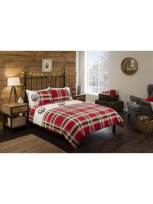 Stag Crest Duvet Set Red