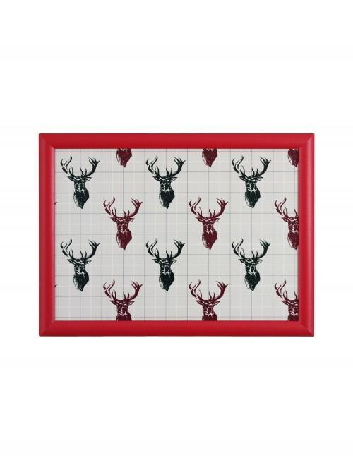 Stag Lap Tray Red
