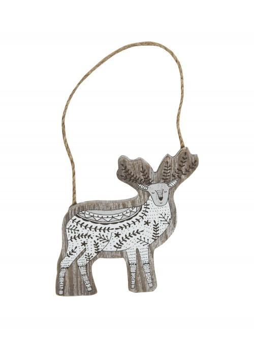 Nordic Stag Hanging Sign Natural