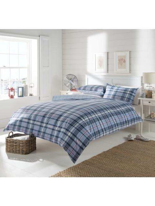 Starboard Check Duvet Set Blue