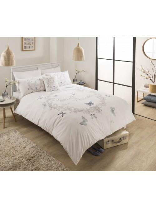 Sweet Dreams Print With Embroidery Duvet Set Blue