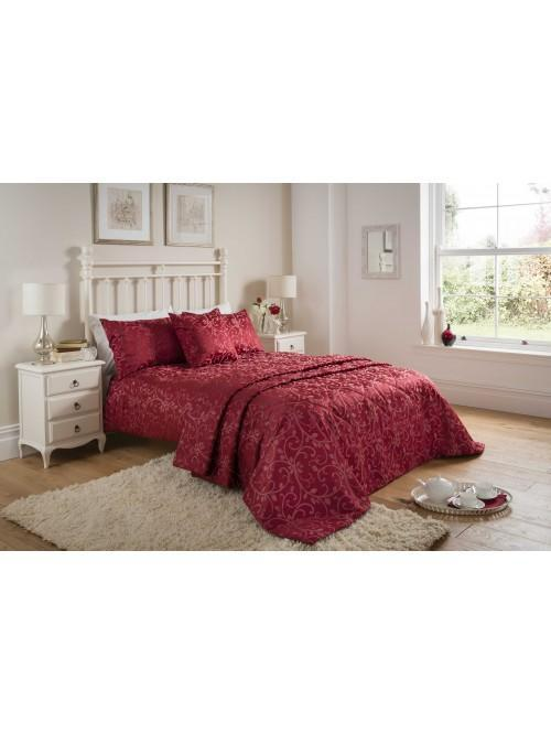 Swirl Jacquard Bedding Collection Red