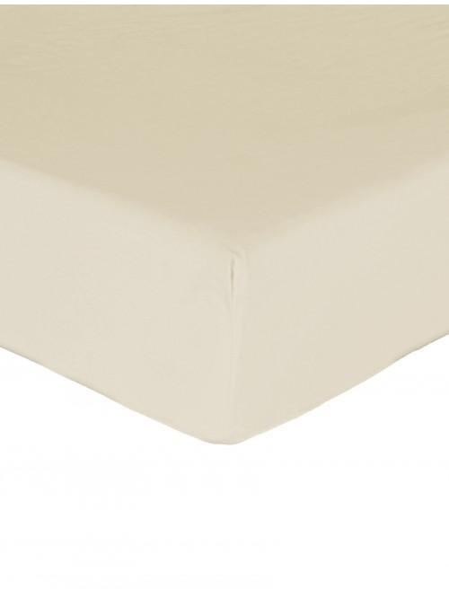 Luxury Percale 200 Thread Count Fitted Sheet Oyster
