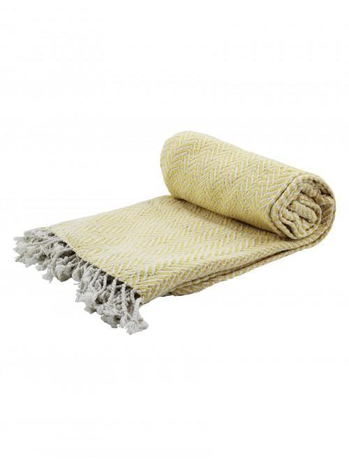 Herringbone Throw Ochre