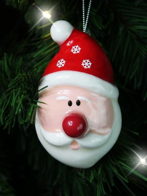 Light Up Nose Face Bauble