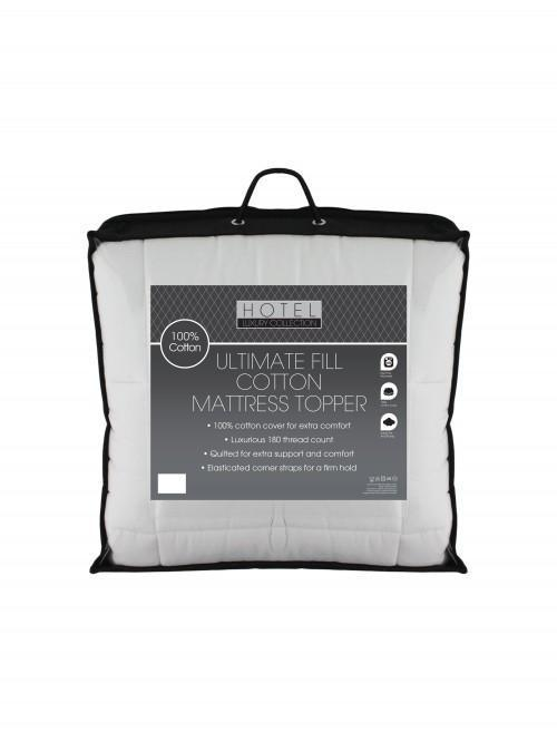 Ultimate Fill 180 Thread Count 100% Cotton Percale Mattress Topper