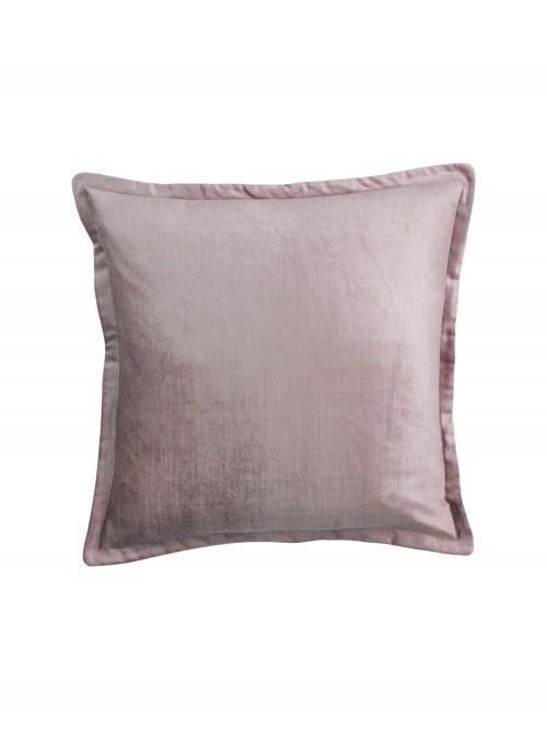 Velvet Oxford Trim Cushion Pink