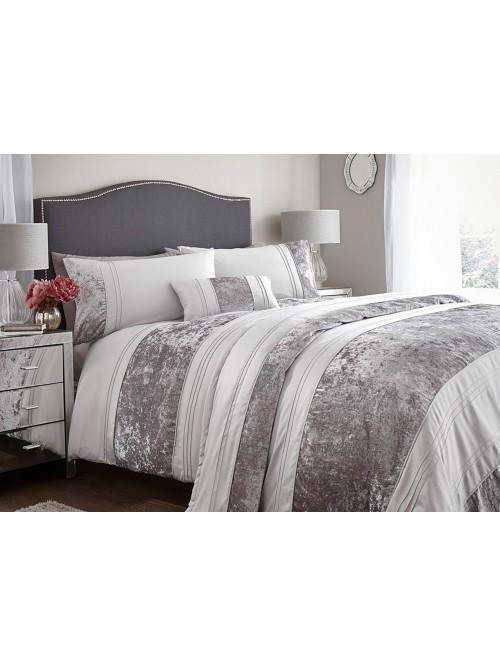 Velvet Panel Bedding Collection Silver