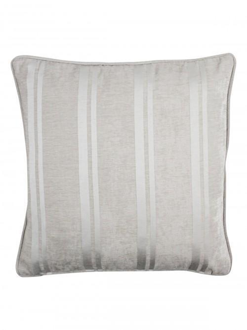 Large Velvet Stripe Feather Filled Cushion Champagne