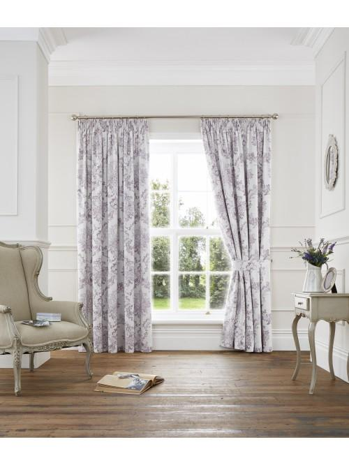 Versailles Pencil Pleat Curtains Heather