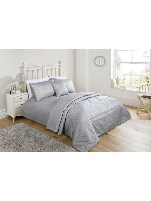 Vintage Medallion Bedding Collection Silver