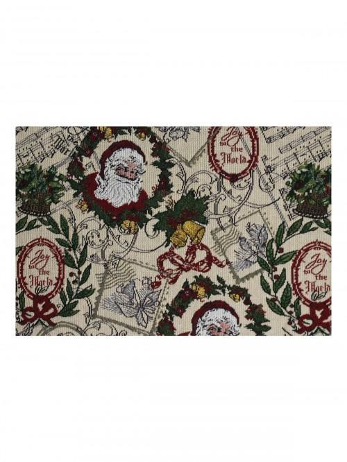 Vintage Santa Postcard With Lurex Placemat